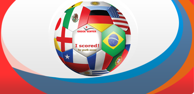 Soccer Ball With Multiple Country Flags