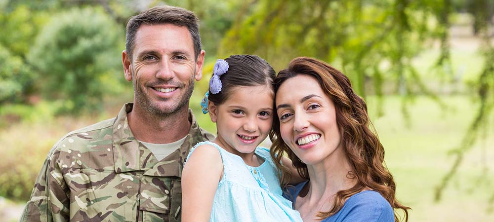 Veteran with family